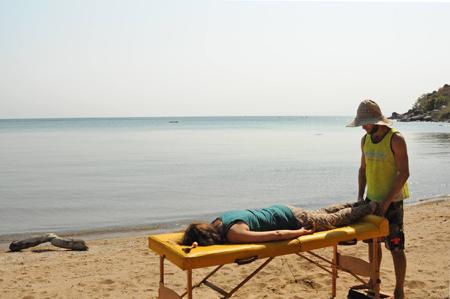 release op het strand